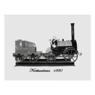 Locomotora de vapor de Northumbrian B&W Postales