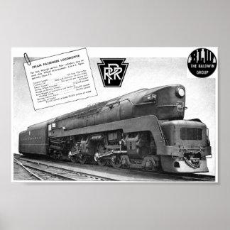 Locomotora de vapor del T-1 del ferrocarril de Bal Impresiones