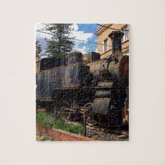 Locomotora de vapor del vintage rompecabeza