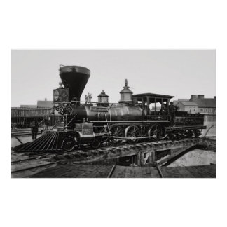 Locomotora de vapor Edward M. Stanton 1864 Póster