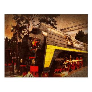 Locomotora de vapor en el ferrocarril de Kiev Postal