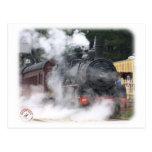 Locomotora de vapor ferroviaria del zigzag postal