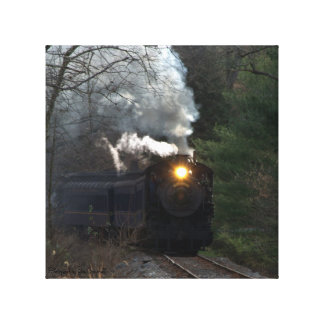 Locomotora de vapor impresion de lienzo