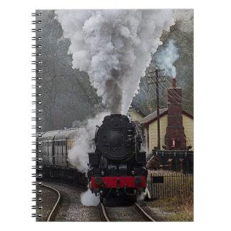 Locomotora de vapor cuadernos