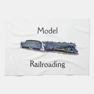 Locomotora de vapor modelo toalla de mano