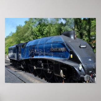 Locomotora de vapor ningunos 60007 póster
