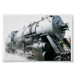 Locomotora de vapor póster