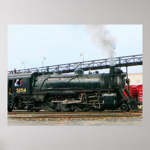 Locomotora de vapor poster