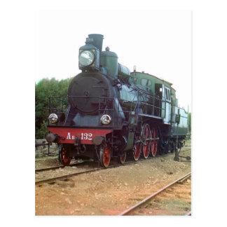 Locomotora de vapor rusa tarjetas postales
