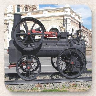 Locomotora de vapor temprana en Cartagena Posavasos De Bebidas