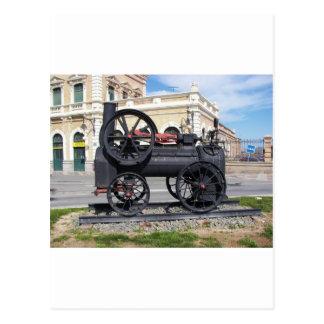 Locomotora de vapor temprana en Cartagena Postales