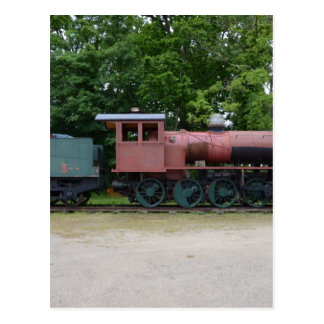 Locomotora de vapor vieja postal
