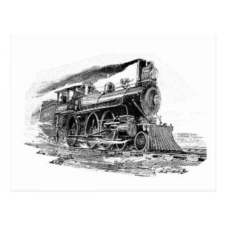 Locomotora de vapor vieja tarjetas postales