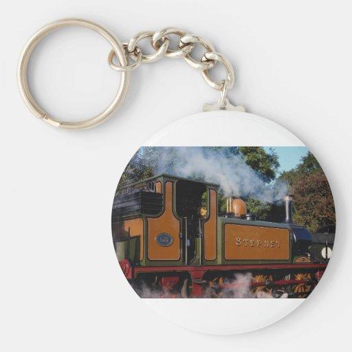 Locomotora del Bluebell Llavero Redondo Tipo Pin