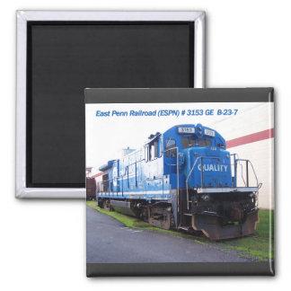 Locomotora del este #3153 del ferrocarril de Penn Imán Cuadrado