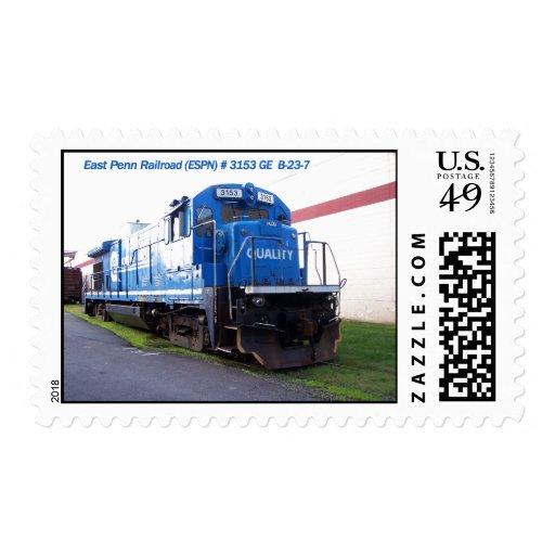 Locomotora del este #3153 del ferrocarril de Penn Sellos Postales