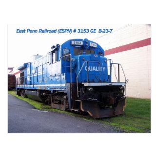 Locomotora del este #3153 del ferrocarril de Penn Postal