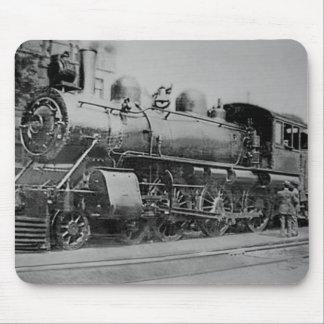 Locomotora del ferrocarril del motor de vapor del  mousepads