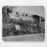 Locomotora del ferrocarril del motor de vapor del  tapete de raton