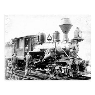 Locomotora del ferrocarril - foto del vintage postales