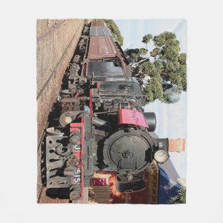 Locomotora del motor del tren del vapor, Australia Manta De Forro Polar