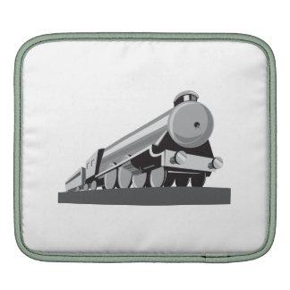 Locomotora del tren del vapor retra funda para iPads