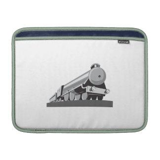 Locomotora del tren del vapor retra funda  MacBook