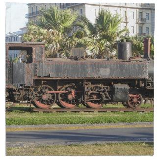 Locomotora del vintage servilletas de papel