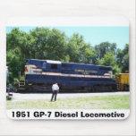 Locomotora diesel 1951 GP-7 Alfombrillas De Ratón