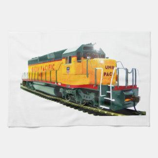Locomotora diesel del modelo U.P. Toallas De Mano