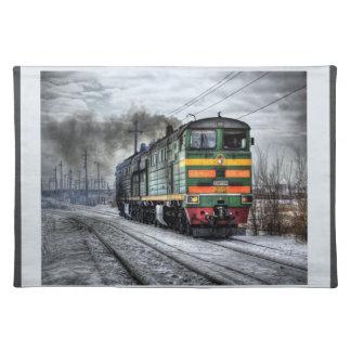Locomotora diesel manteles