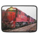 Locomotora diesel y tren rojos funda macbook pro