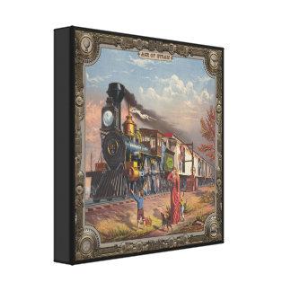 Locomotora. Edad del vapor #016. Impresión De Lienzo