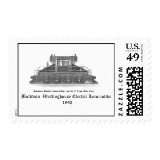 Locomotora eléctrica 1893 de Baldwin Westinghouse Estampillas