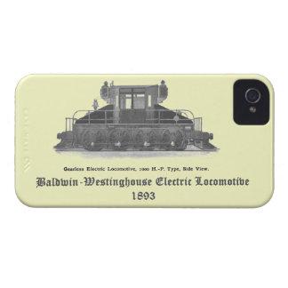 Locomotora eléctrica 1893 de Baldwin Westinghouse iPhone 4 Case-Mate Cárcasa