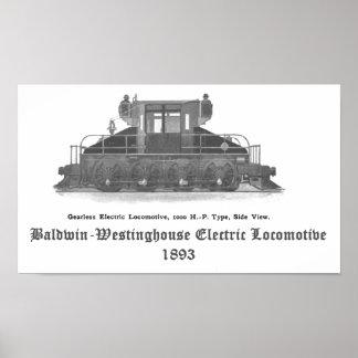Locomotora eléctrica 1893 de Baldwin Westinghouse Posters