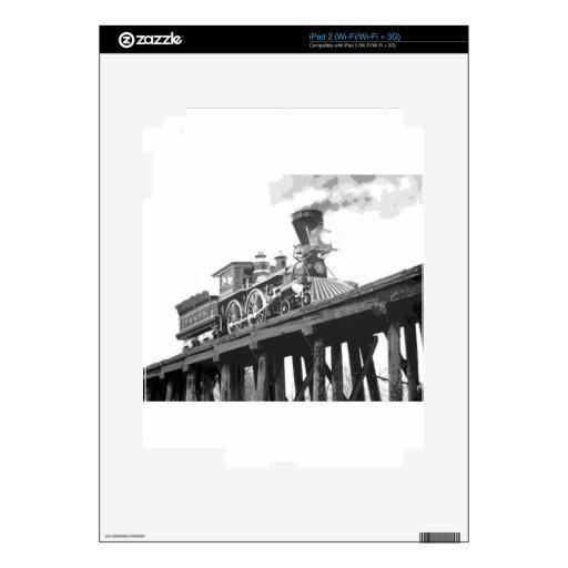 Locomotora en el puente calcomanías para iPad 2