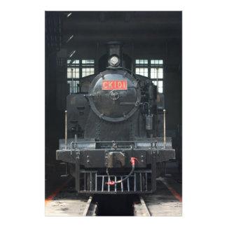 Locomotora en la casa de máquinas de Changhua, Tai Cojinete