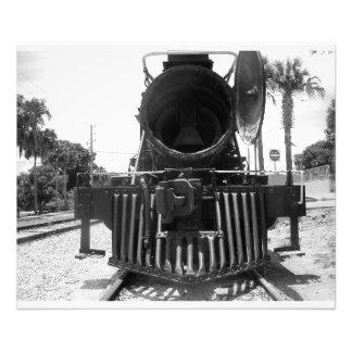 Locomotora expresa del obús del tren del motor de fotografía