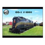Locomotora GG-1 #4800 -2- del ferrocarril de Penns Tarjeta Postal