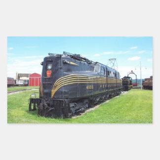 Locomotora GG-1 #4800 del ferrocarril de Rectangular Pegatinas