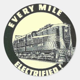 Locomotora GG-1 #4800 del ferrocarril de Pegatina Redonda