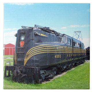 Locomotora GG-1 #4800 del ferrocarril de Pennsylva Azulejo Cuadrado Grande