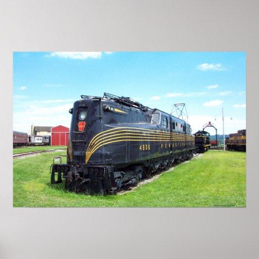 Locomotora GG-1 #4800 del ferrocarril de Pennsylva Poster