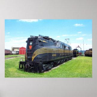 Locomotora GG-1 #4800 del ferrocarril de Póster