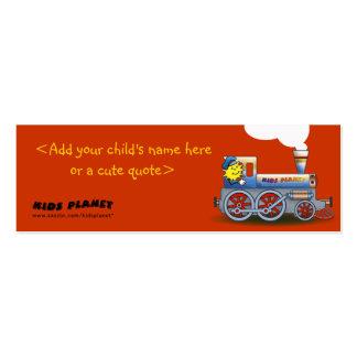 Locomotora misteriosa - señal para los niños tarjetas de visita mini