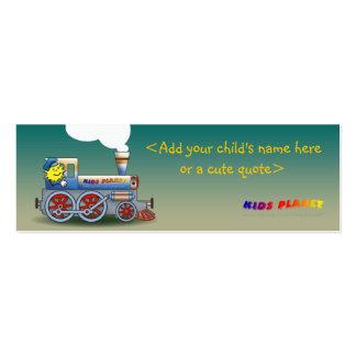 Locomotora misteriosa - señal para los niños tarjetas de visita