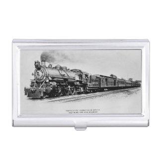 Locomotora pacífica del carril de Baltimore y de Cajas De Tarjetas De Presentación