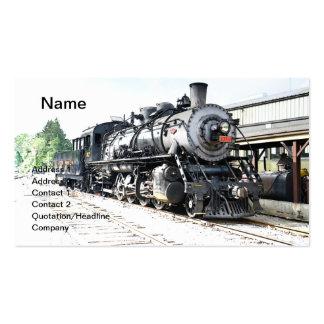 locomotora para un tren del vapor del vintage tarjetas personales