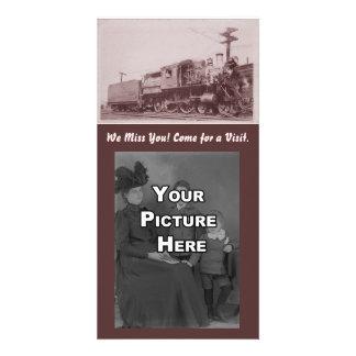 Locomotora Photocard de Baldwin del vintage Tarjetas Fotograficas Personalizadas
